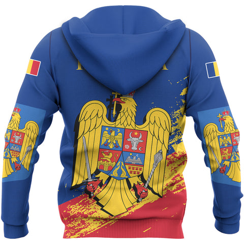 Romania Special Zip Hoodie Blue Version | High Quality | Hot Sale