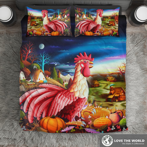 Image of Croatia Rooster Art Bedding Set H1