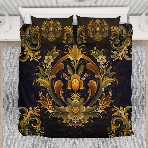 Norway Rosemaling Design Bedding Set 2