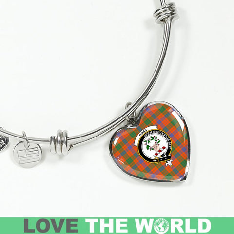 Ross Ancient Tartan Silver Bangle - Sd1 Luxury Bangle (Silver) Jewelries