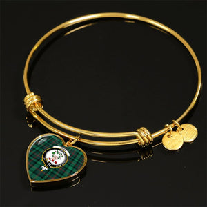 Ross Hunting Modern Tartan Golden Bangle - Bn Adjustable Bangle Jewelries