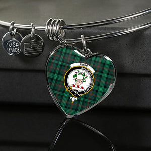Ross Hunting Modern Tartan Silver Bangle - Sd1 Luxury Bangle (Silver) Jewelries