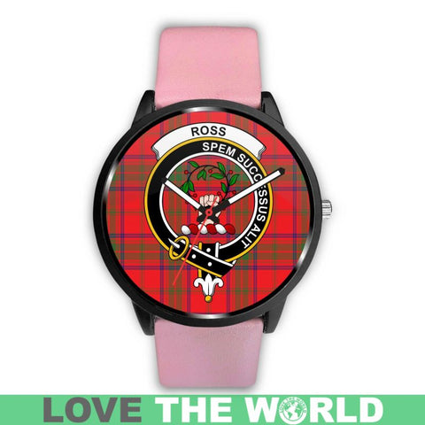 Ross Modern Clan Badge Tartan Leather/steel WATCH - NN5 Mens 40Mm / Brown Leather-Steel Watches