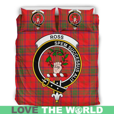 Ross Modern Tartan Clan Badge Bedding Set Th1 Bedding Set - Black Black / Queen/full Sets