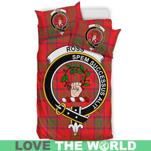 Ross Modern Clan Badge Tartan Bedding Set K7