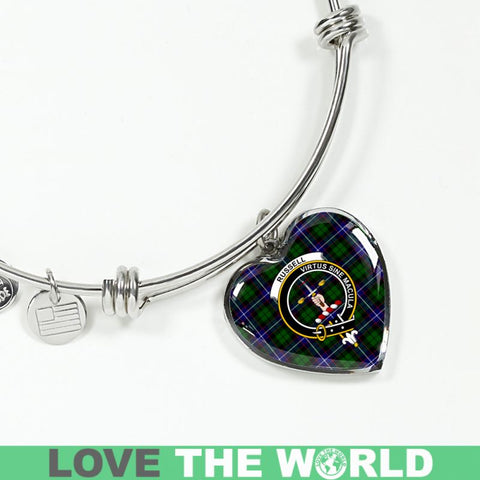 Russell Tartan Silver Bangle - Sd1 Jewelries
