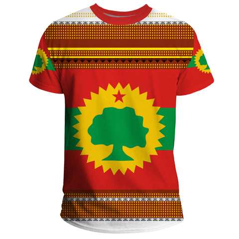 1stTheWorld Oromo T-shirt, Oromo Flag Maps Culture Pattern A24