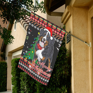 Christmas Garden Flag - Swiss Bernese Mountain Dog K5