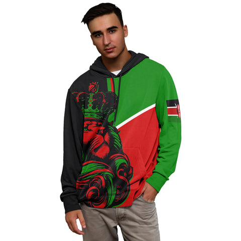 Kenya Lion All Over Hoodie - Bn10
