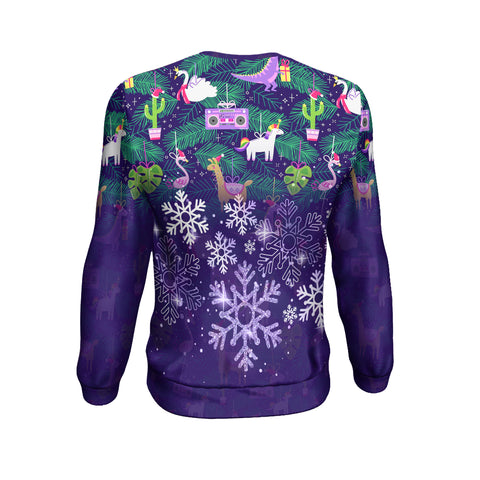 Christmas Custom Personalised Sweatshirt - Christmas Ugly Purple - BN