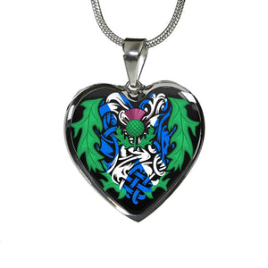 Scotland Always In My Heart Jewelries S1 Luxury Necklace (Silver)