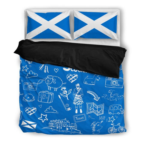 Scotland Bedding Set 11 Bedding Set - Black / Twin Sets