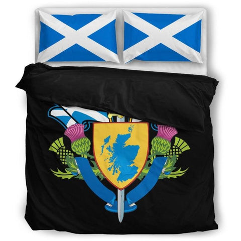 Image of Scotland Bedding Set (Black Editions-White Editions) A9 - Black / Twin Bedding Sets