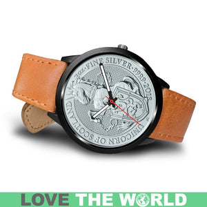 SCOTLAND COIN LEATHER-STEEL WATCH 02 E7