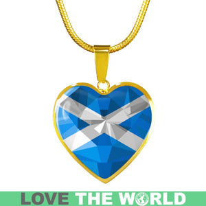 Scotland Crystal Flag Heart-Shaped Jewelries F7