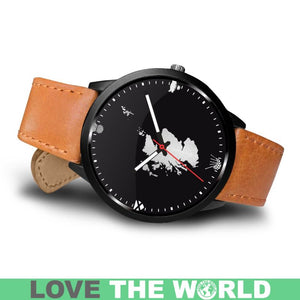 SCOTLAND CULTURAL LEATHER/STEEL WATCH A3
