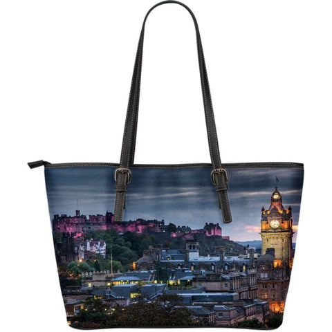 Scotland Edinburgh Large Leather Tote Bag Dm9 |Bags| Love The World