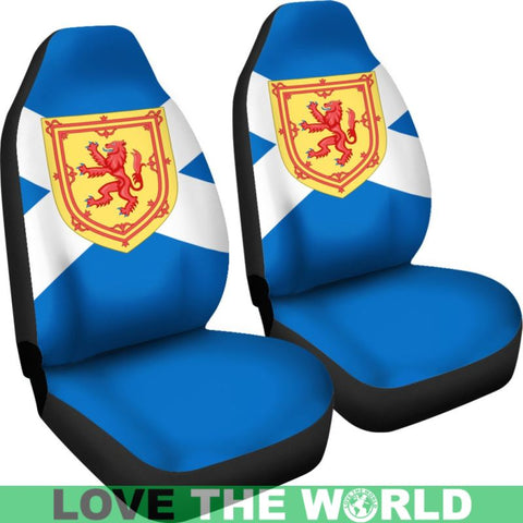 Scotland Flag And Coat Of Arms Car Seat Covers K1 Car Seat Covers - / Universal Fit
