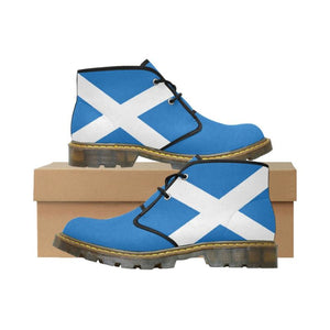 Scotland Flag Chukka Boot A1 Us6.5 / Scotland Womens Nubuck Chukka Boots (Model 2402) Nubuck Boots