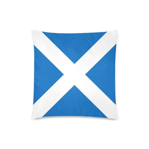 Image of Scotland Flag Zippered Pillow A0 One Size / 18X18 (One Side) Pillows