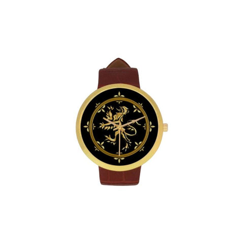 Scotland Golden Symbol Luxury Watch Th7 One Size / Womens Golden Leather Strap Watch(Model 212)