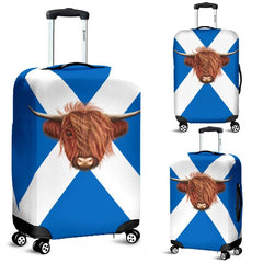 SCOTLAND - HIGHLAND COW LUGGAGE COVER A0