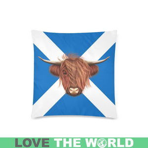 SCOTLAND - HIGHLAND COW PILLOW CASE A2