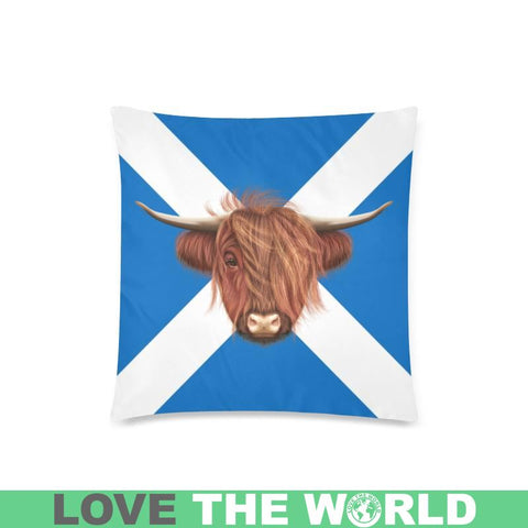 Scotland - Highland Cow Pillow Case A2 One Size / Gàéi Custom Zippered Pillow Cases 18X 18 (Twin