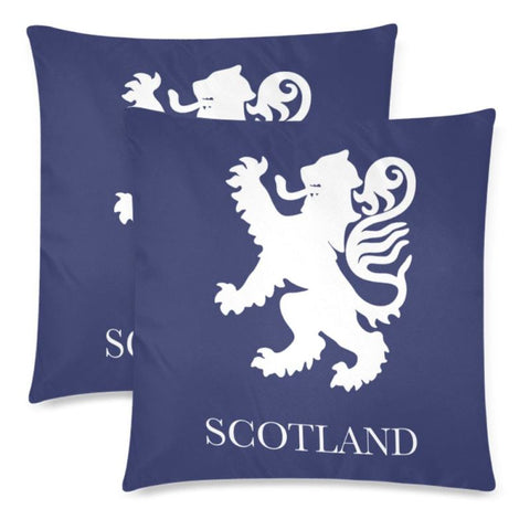 Scotland Lion Pillow Case H4 One Size / Scotland Custom Zippered Pillow Cases 18X 18 (Twin Sides)