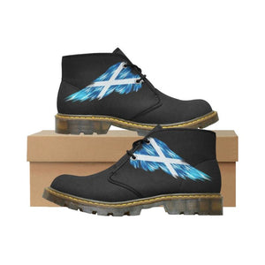 Scotland (Mens/womens) Nubuck Chukka Boots A5 Scotland Flag Wing 01 Mens (Model 2402) / Us7 Nubuck