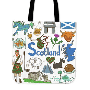 Scotland Things Tote Bags A3 Y1