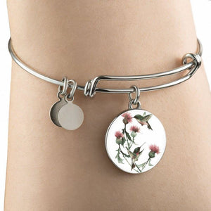 Scotland Thistle Bangle L1 Bangle-Bracelet Adjustable Jewelries