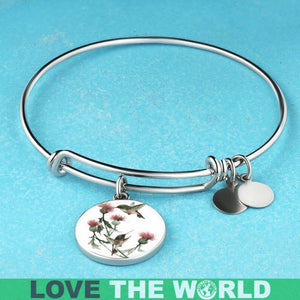 SCOTLAND THISTLE BANGLE L1