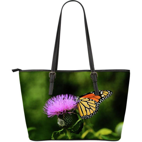 Scotland Thistle Large Leather Tote Bag S12 Totes