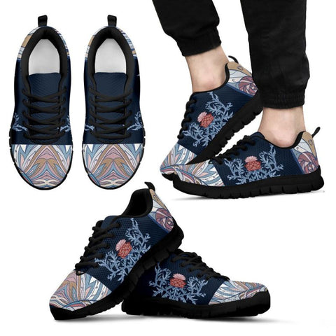 Image of Scotland Thistle Men's / Women's Sneakers (Shoes)02 NN8 Mens Men's / Women's Sneakers (Shoes)- Black Mens Black / Us5 (Eu38)