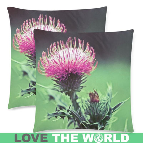 Scotland - Thistle Zippered Pillow A0 One Size / 18X18(Twin Sides) Pillows