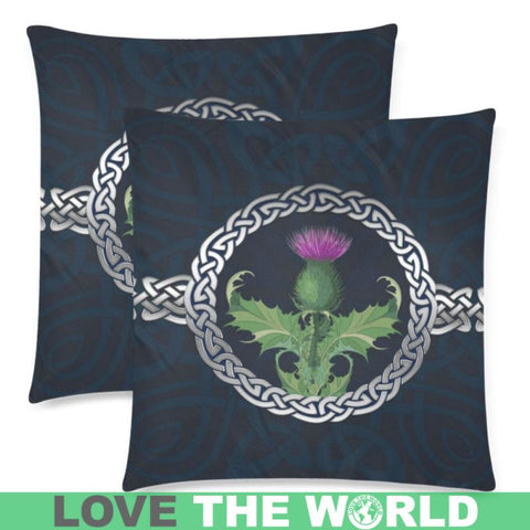 Image of Scotland Thistle Zippered Pillow H5 One Size / Case D5 Custom Zippered Pillow Case 18X18(Twin Sides)