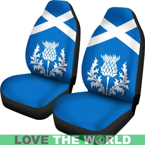 Image of Scotland Thistles Car Seat Covers Ha8