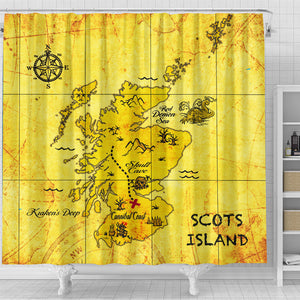 Love The World | Scotland Shower Curtain - Scots Island | Special Custom Design
