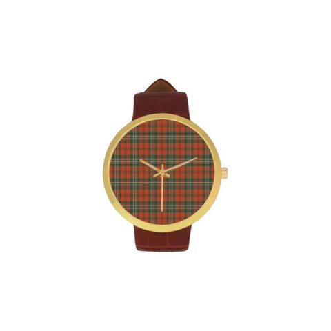 Scott Ancient Tartan Watch S7 One Size / Golden Leather Strap Watch Luxury Watches
