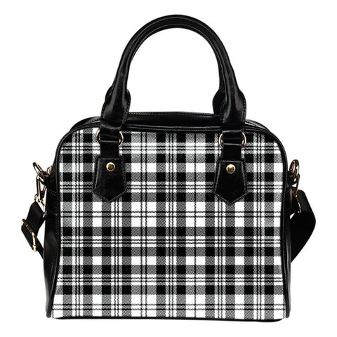 Tartan Shoulder Handbag - Scott Black & White Modern