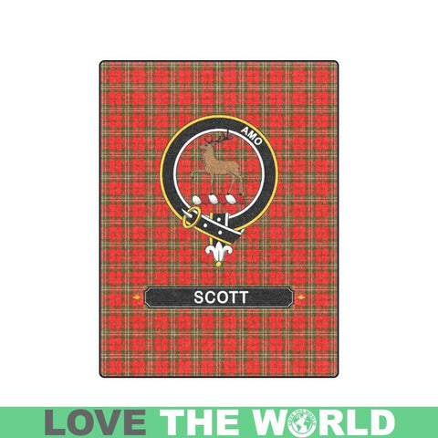 Image of Scott Tartan Blanket | Clan Crest | Shop Home Decor