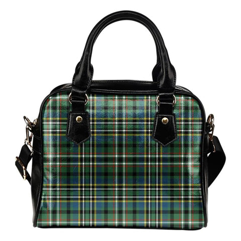 Tartan Shoulder Handbag - Scott Green Ancient