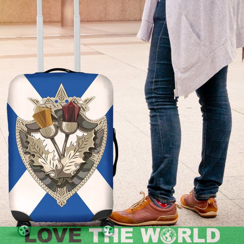 Image of Scottish Celtic Thistle Brooch Luggage Cover Nl6 | Love The World