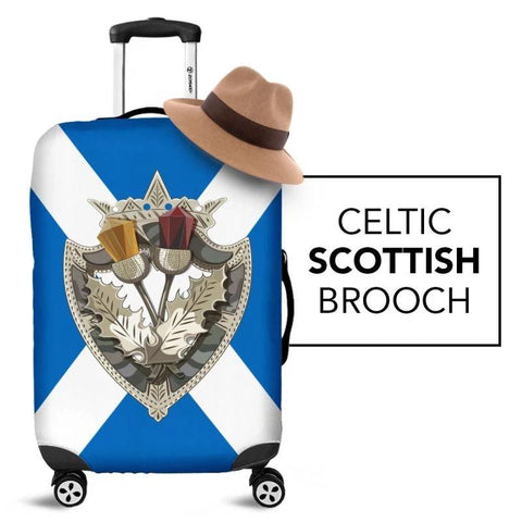 Scottish Celtic Thistle Brooch Luggage Cover Nl6 | Love The World