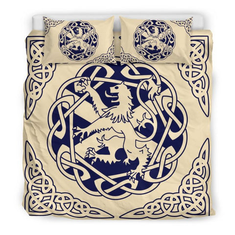 Image of Scottish Lion Bedding Set - Ro7 Bedding Set Black Black / King Sets, scottish, lion, bedding, set