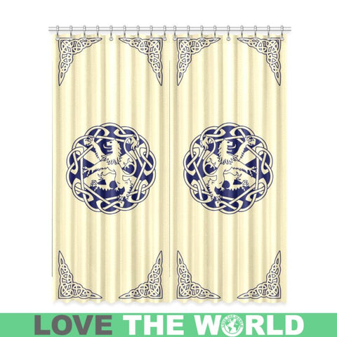Scottish Lion Window Curtain - Ro7 One Size / Sw1 Kitchen Curtain 26 X 39 (Two Piece) Curtains