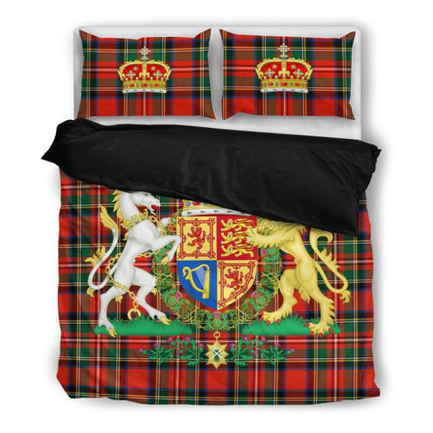 Image of Scottish Royal Stewart Bedding Set A0 Bedding Set - Black Black / Twin Sets