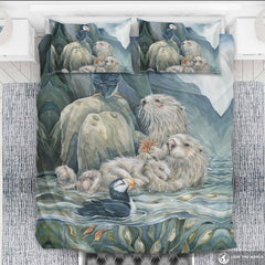 Puffin and seals bedding set K5
