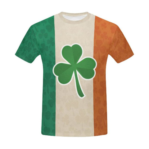 Shamrock Flag T-Shirt H4 S / Men Polyester - All Over Print T-Shirts